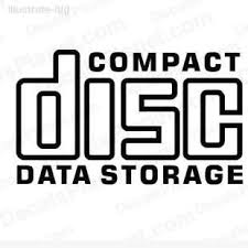 Compact Disc Data Storage Decal Vinyl Decal Sticker Wall Decal Decals Ground