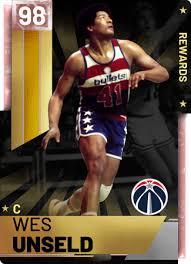 81 Wes Unseld (98) - NBA 2K19 MyTEAM Pink Diamond Card - 2KMTCentral
