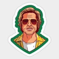 Brad Pitt Brad Pitt Sticker Teepublic