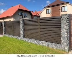 Modern Fence Design Images Stock Photos Vectors Shutterstock