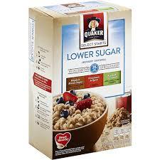 quaker instant oatmeal lower sugar