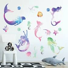 Home Decor Items Wall Decals Stickers Girls Mermaid Kisses Starfish Wish Bedroom Wall Quote Vinyl Decal Sticker V299 Pettumtrampolines Es
