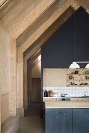 plywood ceilings walls dark stained
