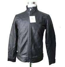 calvin klein men leather jacket size s