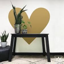 Big Heart Vinyl Wall Decal Vinyl Wall Decals Heart Wall Decal Stick Wall Art