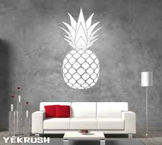 Pineapple Wall Decal Pineapple Vinyl Sticker Pineapple Vinyl Decals Rinohomedecor