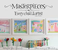 Masterpieces Wall Decal Every Child Is An Artist Picasso Art Display Kids Playroom Wall Decor Art Display Wall