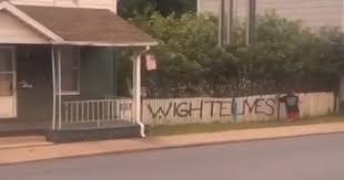 Spray Painter Caught Writing Wighte Lives Matter On Fence In Pennsylvania Buzzolf