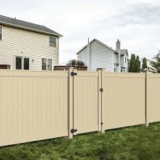 Freedom Emblem 6 Ft H X 5 Ft W Sand Vinyl Fence Gate In The Vinyl Fence Gates Department At Lowes Com