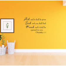 Winston Porter Ask And It Shall Be Given You Seek And You Shall Find Bible Wall Decal Reviews Wayfair