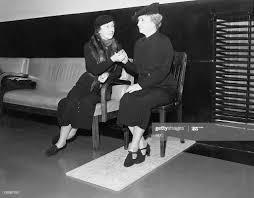 Aid/companion Polly Thompson, Helen Keller listening to the NBC ...