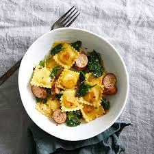 en sausage spinach ravioli