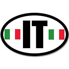 Euro Oval It Sticker Decal Car Decal Italy Italian Italian Size 4 X 4 Inch Walmart Com