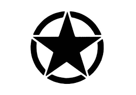 Military Star Vinyl Decal Car Decal Military Decal Army Decal Decal For Jeeps Us Army Decal La Vinyl Decals Car Decals Laptop Stickers