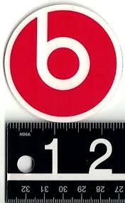 Beats By Dre Sticker Beats By Dr Dre Headphones 2 5 In Round Red Decal Ebay