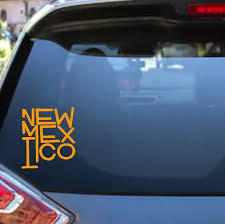 New Mexico Car Vinyl Decal Pick Your Color Etsy