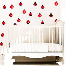 Nursery Ladybug Decal Nursery Wall Decal Murals Primedecals