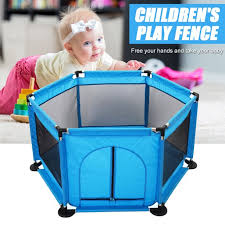 Amerteer Portable Baby Playpen Playard Rectangle Toddlers Play Yard With Door Activity Center Child Play Game Fence Interactive Kids Toddler Room For Infants And Babies Walmart Com Walmart Com
