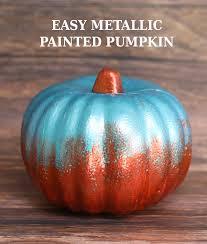 metallic painted pumpkin the craft patch