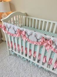 blush crib bedding mint baby bedding