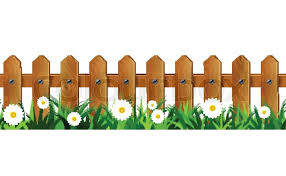 Green Grass And Wooden Fence Stock Vector Colourbox