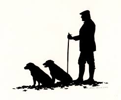 Man with two dogs | Silhouette Artist - Portrait Cuttings - UK