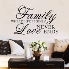 Amazon Com Flywalld Family Quotes Wall Decal Bedroom Love Saying Sticker Home Vinyl Art Deocr Family Where Life Begins And Love Never Ends Arts Crafts Sewing