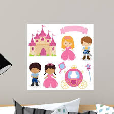 Cute Princess And Prince Wall Decal Wallmonkeys Com