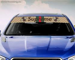 Universal Windshield Banner Decal Gucci X Supreme Stickerbombing Eu