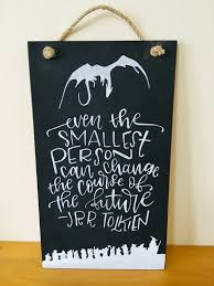 lord of the rings sign lotr jrr tolkien quote home decor wooden
