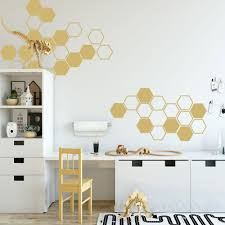 Decals Stickers Vinyl Art Home Garden Hexagon Vinyl Decals Honeycomb Art Wall Sticker Shapes Home Decor 7 In 10 Piece Adrp Fournitures Fr