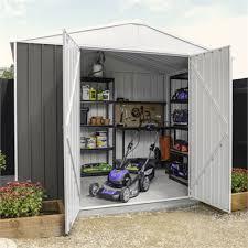 2 99 x 2 99 x 2 19m grey garden shed