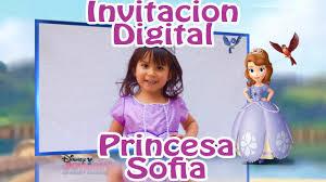 Invitacion Virtual Princesa Sofia Youtube