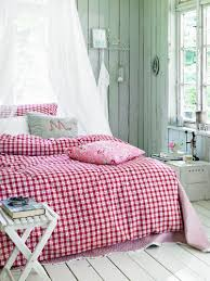 red and white country style gingham
