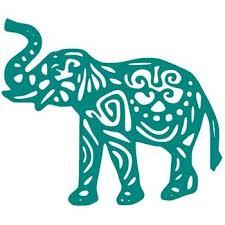 Tribal Elephant Vinyl Decal Side View Multiple Colors Tribal Elephant Elephant Decal Art Cart