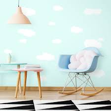 White Clouds Wall Decals Roommates Decor
