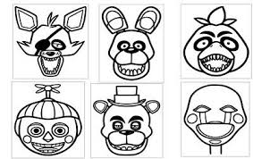 6 Of The Five Nights At Freddys Heads 5x6 Vinyl Car Truck Window Decal Stickers Vieted Org Vn