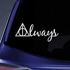 Buy Cci Always Harry Potter Deathly Hallows Decal Vinyl Sticker Cars Trucks Vans Walls Laptop White 7 5 X 3 25 In Cci558 Online At Low Prices In India Amazon In