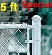 Fence System Package Kits 5ft Galvanized Chain Link Fence Fence Material