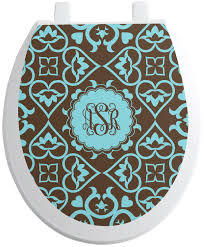 Floral Toilet Seat Decal Personalized Youcustomizeit