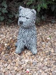 westie dog concrete garden ornament