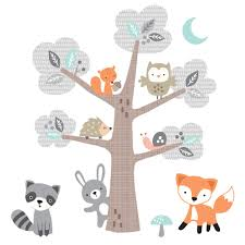 Shop Bedtime Originals Woodland Friends Forest Animals With Tree Wall Decals Overstock 30240901