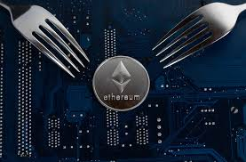 Ethereum coin with forks on motherboard | ✅ Marco Verch is a ...