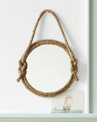 frame out a mirror with rope pictures