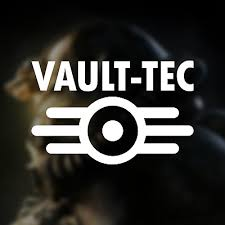 Fallout Vault Tec Logo Vinyl Sticker Decal Silver Gloss 15 3 X 8cm Computers Tablets Networking Stickers Decals