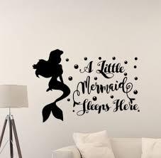 The Little Mermaid Wall Decal Princess Sleeps Here