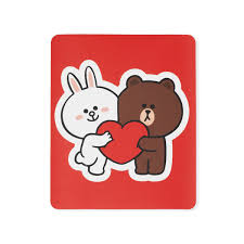 Line Friends Brown Friends Removable Decal Sticker 29 Line Friends Inc