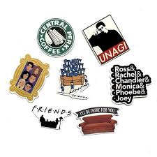 34 Pcs Friends America Classic Tv Show Nostalgic Stickers For Laptop S Nicerin Best Goods Free Shipping