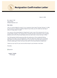 resignation confirmation letter pdf