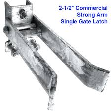 Commercial Strong Arm Single Gate Latch 2 1 2 Heavy Duty Fence Gate Latches For 1 5 8 Thru 2 Chain Link Or Round Pipe Gate Frames E